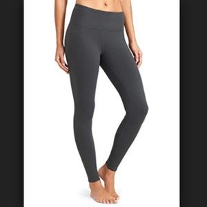 ATHLETA grey chaturanga Full Length Leggings